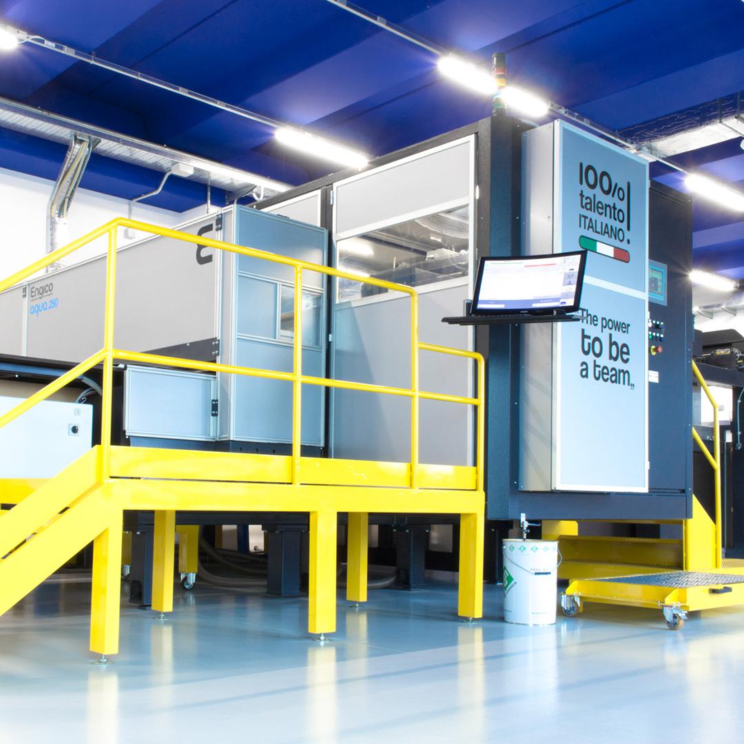 Impianto di stampa digitale su cartone