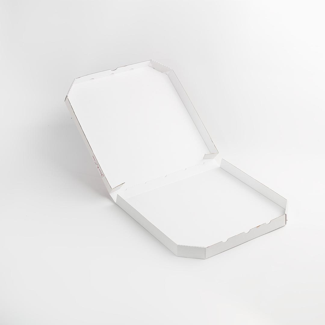 Scatola per Pizza Modello BOX TV personalizzata aperta